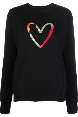 PS Paul Smith Women Sweatshirts - Embroidered-heart organic-cotton sweatshirt