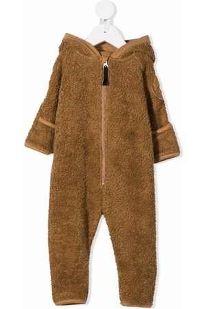 Molo Kids Baby Rompers - Faux-shearling hooded babygrow