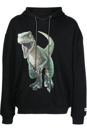 Mostly Heard Rarely Seen Men Sweatshirts - Dino-print drawstring hoodie