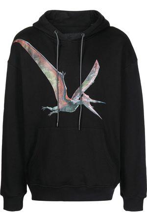 Mostly Heard Rarely Seen Men Sweatshirts - Pteranodon-print drawstring hoodie