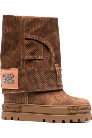 Casadei Women Ankle Boots - C-Chain corduroy ankle boots