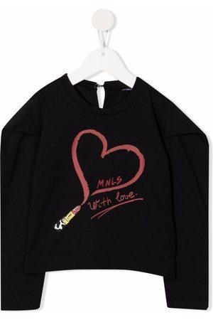 Monnalisa Lipstick print T-shirt