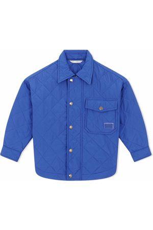 Dolce & Gabbana Kids Quilted chest-pocket jacket