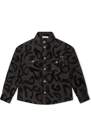 Dolce & Gabbana Kids Graffiti-logo longsleeved shirt