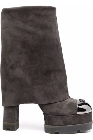 Casadei Cult 100mm suede boots