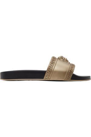 Men Sandals - Versace Gold Palazzo Pool Slides