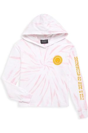 Tiny Whales Little Girl's & Girl's 'Ray Of Sunshine' Tie-Dye Hoodie