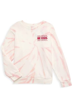 """Tiny Whales Little Girl's & Girl's """"Be Cool"""" Tie-Dye Long Sleeve T-Shirt"""