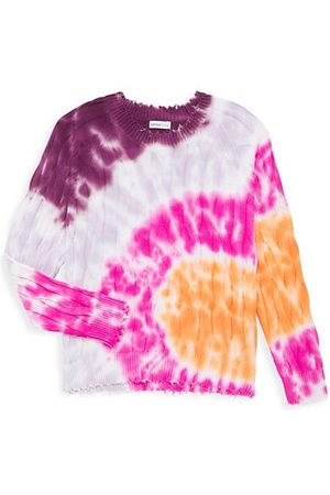 Minnie Rose Boys Neckties - Girl's Tie-Dye Cable Knit Sweater