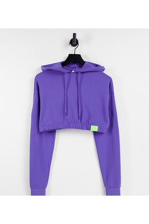 AsYou Cropped co-ord hoodie in violet