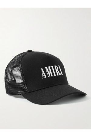 AMIRI Men Hats - Logo-Embroidered Cotton-Canvas and Mesh Trucker Hat