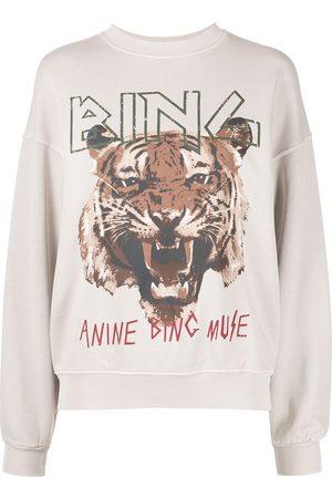 ANINE BING Women Jumpers - Graphic-print crew neck sweatshirt