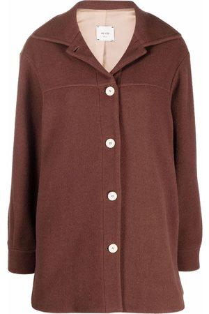 ALYSI Women Coats - Buttoned-up fringed coat
