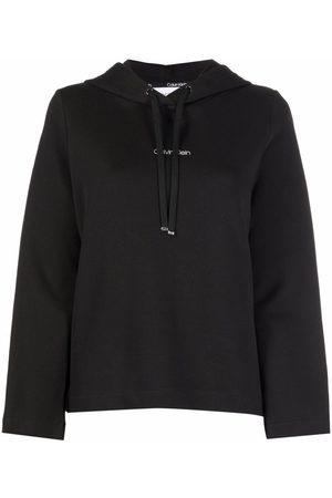 Calvin Klein Wide-sleeve cotton-blend hoodie