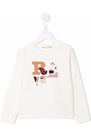 BONPOINT Slogan-print crew neck sweatshirt