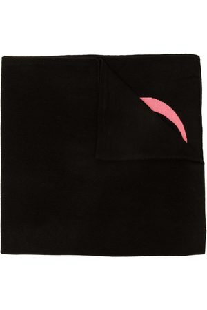 DEE OCLEPPO Women Scarves - Letter intarsia-knit cashmere scarf