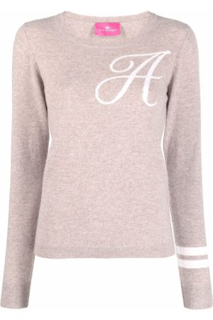 DEE OCLEPPO Intarsia-knit letter A jumper