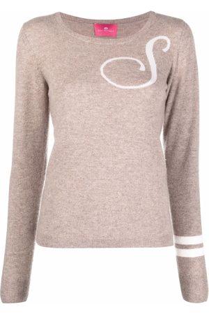 DEE OCLEPPO Intarsia-knit letter S jumper
