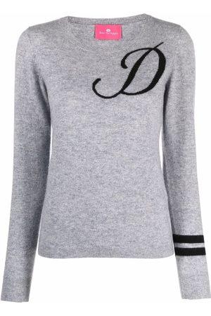 DEE OCLEPPO Intarsia-knit letter D jumper