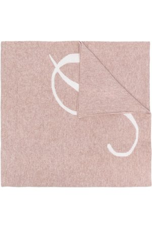 DEE OCLEPPO Letter p cashmere scarf