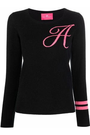 DEE OCLEPPO Women Jumpers - Intarsia-knit letter A jumper