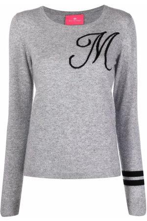 DEE OCLEPPO Intarsia-knit letter M jumper