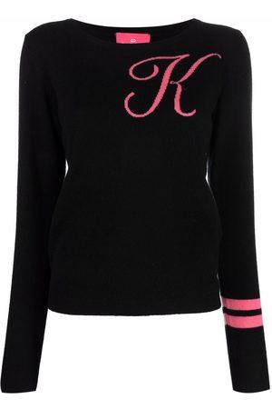 DEE OCLEPPO Intarsia-knit letter K jumper