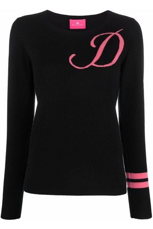 DEE OCLEPPO Women Jumpers - Intarsia-knit letter D jumper