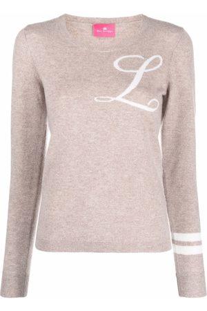 DEE OCLEPPO Intarsia-knit letter L jumper