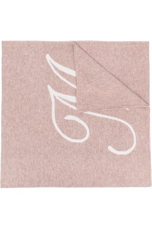 DEE OCLEPPO Letter M cashmere scarf