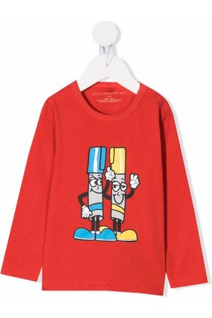 Stella McCartney Graphic-print longsleeved T-shirt