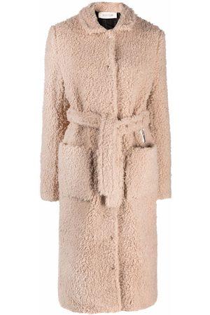 1017 ALYX 9SM Women Coats - Polar teddy fleece coat