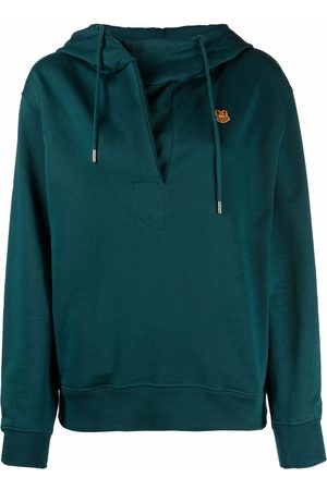 Kenzo Logo-patch pullover hoodie