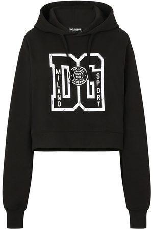 Dolce & Gabbana Women Jumpers - Logo-print hoodie