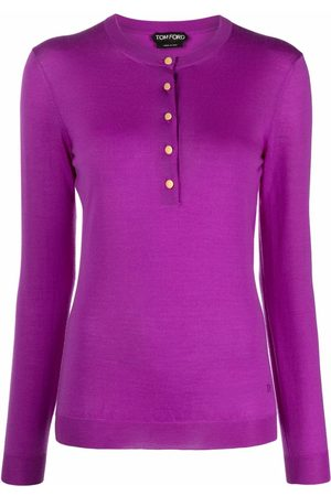 Tom Ford Cashmere-silk button-up top