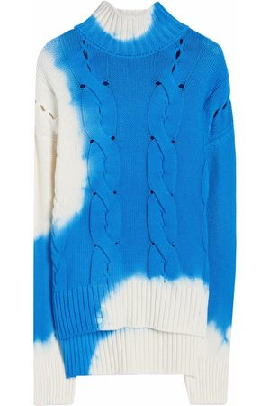 OFF-WHITE Tie-dye cable-knit jumper