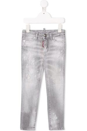 Dsquared2 Straight leg distressed denim jeans