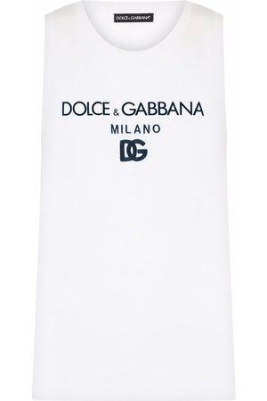 Dolce & Gabbana Logo-print cotton tank top