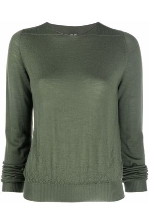Rick Owens Long-sleeved cashmere-knit top