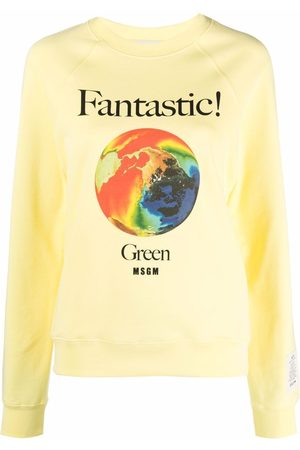 Msgm Fantastic logo-print crew neck sweatshirt