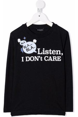 MONNALISA Boys Long Sleeve - Slogan-print long-sleeve top