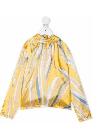 Emilio Pucci Girls Blouses - Vortici-print blouse