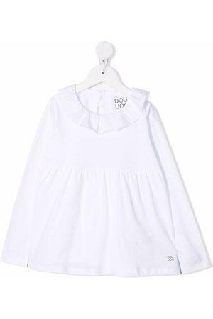 DOUUOD KIDS Ruffled long-sleeved blouse
