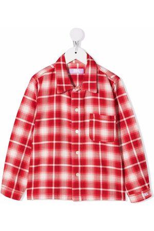 ERL KIDS Button-up flannel shirt
