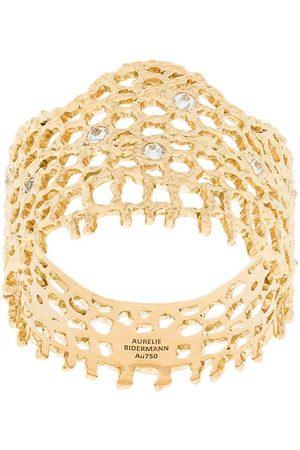 Aurélie Bidermann 18kt yellow gold diamond vintage lace ring