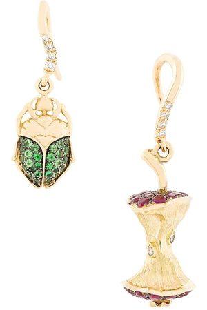 Aurélie Bidermann Apple Core & Scarab set of diamond earrings