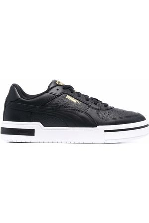PUMA Logo-print low-top leather sneakers