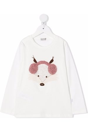 Il gufo Girls Long Sleeve - Embroidered long-sleeved T-shirt