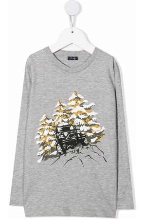 Il gufo Contrasting-print T-shirt