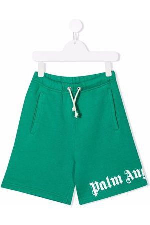Palm Angels Boys Shorts - CLASSIC OVER LOGO SHORT WHITE